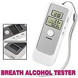 Alria Dual Digital LCD Clock Alcohol Breath Tester Analyzer-Breathalyzer Detector Test