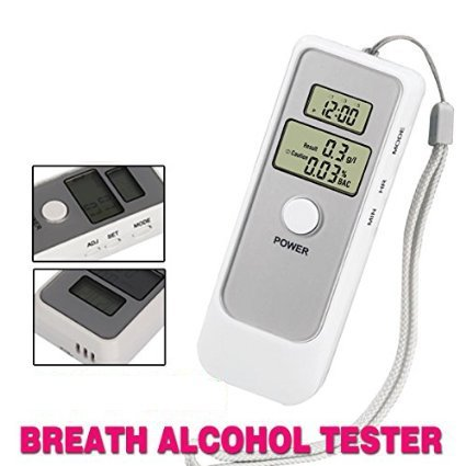 Buy Alria Dual Digital Lcd Clock Alcohol Breath Tester Analyzer