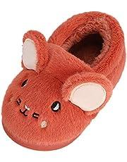 MASOCIO Pantoffels voor kinderen, jongens, meisjes, winter, warm, pluche, slipvast, slippers