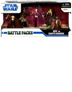 Star Wars 3.75 Inch Scale Battle Pack - Jedi versus Darth Sidious (Fisto Kit Wars Star Wars Clone)