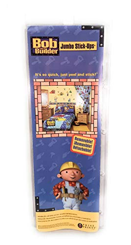 Bob The Builder Removable Jumbo Stick ups - Includes 20+ Self-Stick, Pre-Cut, Reusable Wall Decorations