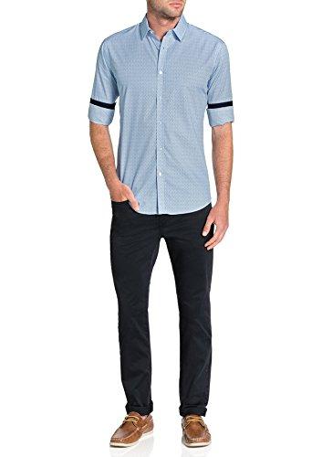 Chemise Imprimé Cheval Hommes Tarocash Coton Régulier Manches Longues En Forme Tailles Xs-5xl Pour Sortir Intelligent Bleu Occasions Particulières