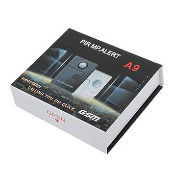 Alerta de Alarma Blanco A9 Wireless Sensor PIR detector de movimiento GSM.