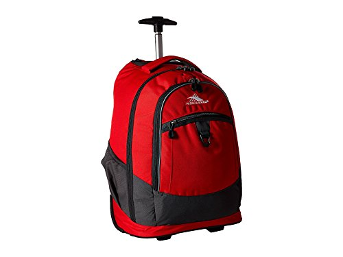 (High Sierra Chaser Wheeled Laptop Backpack, Crimson/Mercury)