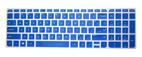 PcProfessional Blue Ultra Thin Silicone Gel Keyboard Cover for HP 15.6