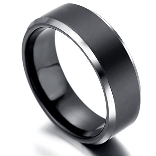 Beydodo Stainless Steel Ring Women Thumb Rings Men 6MM Round ...