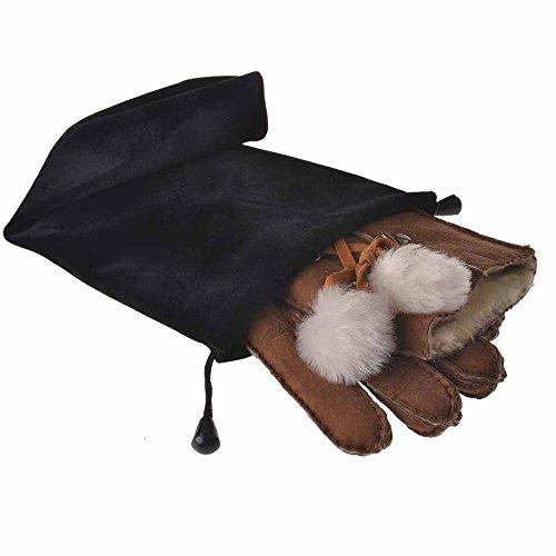 LANTINA Womens Rugged Merino Sheepskin Gloves