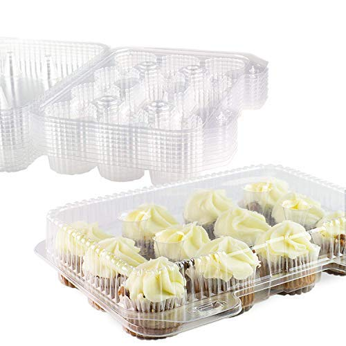 Mini Cupcake Box (Chefible 12 Mini Cupcake Container, Cupcake Box - Set of)