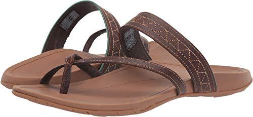 Chaco Women's Deja Cognac 8 B US (Chaco Womens Leather Flip Sandal)