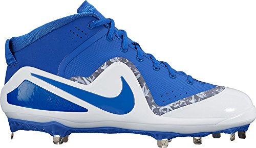 Nike Men's Force Air Trout 4 Pro Metal Baseball Cleats (10.5, Blue/White)