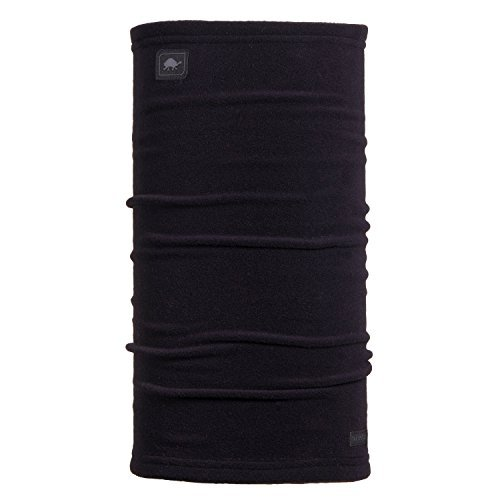 Turtle Fur Micro Fur Stretch Turtle Tube Long Neckwarmer, Black