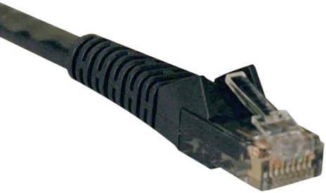 Black Size Tripp Lite N201-001-BK Cat6 Gigabit Black Snagless Molded Patch Cable RJ45M//M 1-foot 1 feet Color