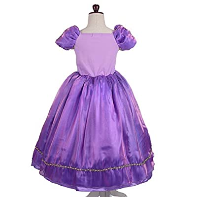 Lito Angels Girls Princess Dress Up Costume Halloween Christmas Fancy Dress Outfit with Accessories: Clothing