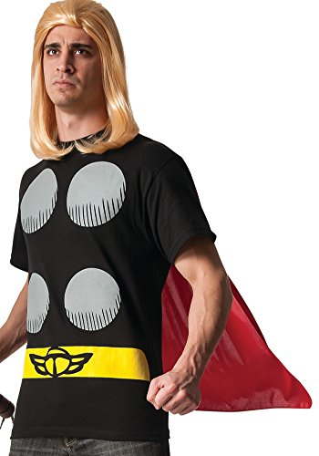Rubie's Men's Marvel Universe Thor Adult Costume T-Shirt and Cape, Multi, -