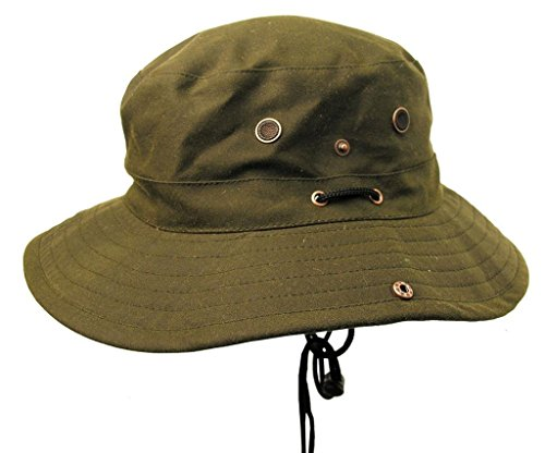 Light Weight Buckle Hat Made of Microwax Canvas, Water Repellent KTA -
