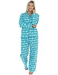 Women's Sleepwear Flannel Long Sleeve Pajamas PJ Set