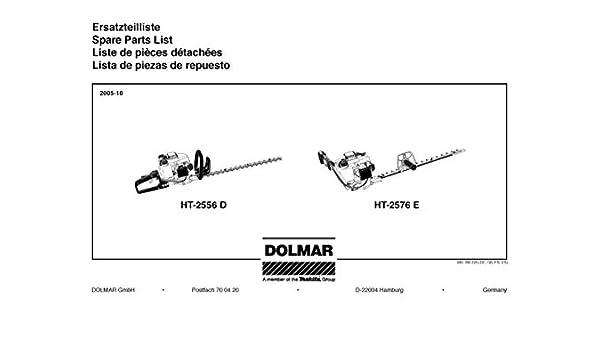 Bujía Conector, Original para Notebook para DOLMAR HT de 2556 D y HT de 2576 S: Amazon.es: Bricolaje y herramientas