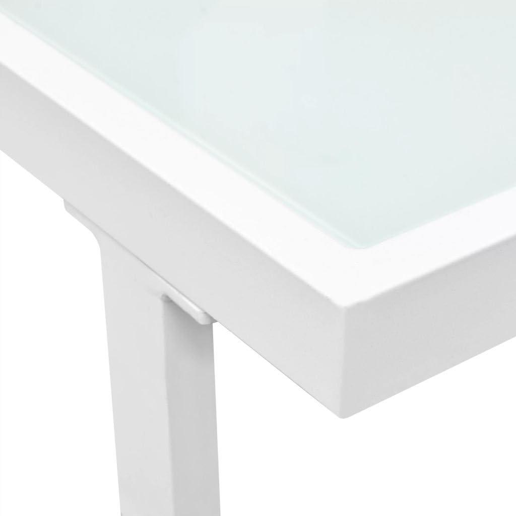vidaXL Canap/és de Jardin 13 pcs Textil/ène Aluminium Noir Blanc Salon de Jardin
