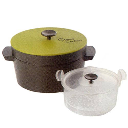 Akebono Industry Microwave Private Warmth Cooking Pot Grand Cooker  Gran Cooker  Green Re 1527