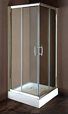 Mampara de ducha cm, 100 x 180 x 72 h: Amazon.es: Hogar