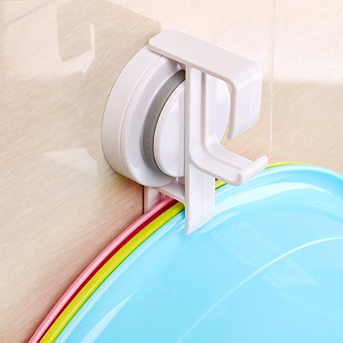 GGGarden Traceless Suction Cups Bath Rack Tray Wash Basin Ho