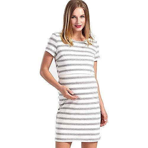 Abito Grigio1 S colore Dimensione Gravidanza Tessuto Righe A Di Bianco 1 Donne Per Alta Maternità Fuweiencore Qualità Con In UAwdTU