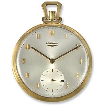 longines 14k gold manual wind mens vintage antique open face longines 14k gold manual wind mens vintage antique open face pocket watch silver dial 14kt