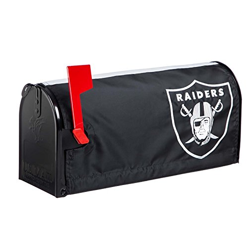 Raiders Applique - Ashley Gifts Customizable Embroidered Applique Fabric NFL Mailbox Cover, Oakland Raiders