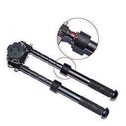 XAegis Rifle Bipod Outdoors CNC QD Tactical Picatinny Rail 6.5 - 9.6 inch Bipod Flat Adjustable Black