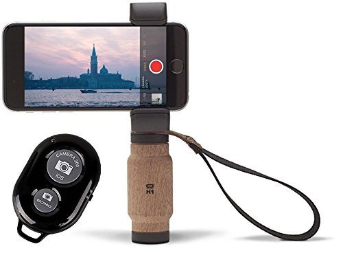 Shoulderpod Handle Grip for Smartphones and a Bonus Ivation Wireless Bluetooth Camera Shutter Remote Controller by Calumet