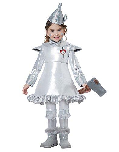 California Costumes Wizard Girl Tin Man of oz Toddler Costume, Silver, TD (Tin Man Childrens Costumes)