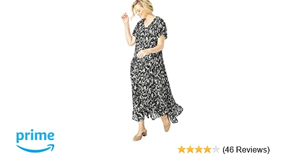 Woman Within Plus Size Crinkle Dress at Amazon Women s Clothing store  62ce865bc
