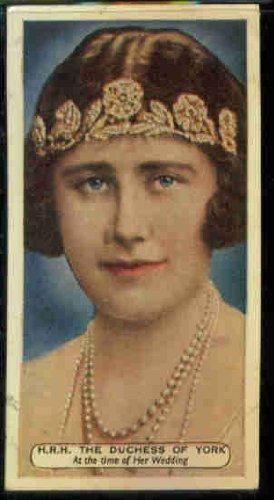 Duchess of York (Elizabeth) - Wedding 1935 Ardath Cigarettes Silver Jubilee #30 - Wedding Silver Jubilee