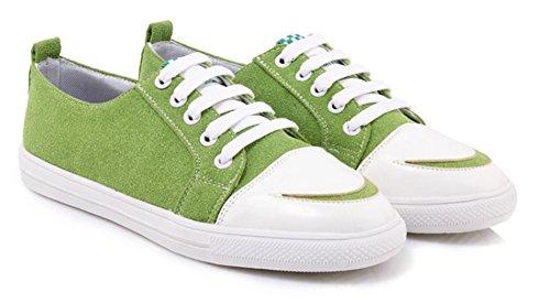 Chaussures Aisun Femme Sneakers Bout Rond Classique De Sport Vert O1aEq1Px