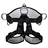 kissloves Climbing Harness Belt Half Body Harness Protect Waist Safety Harness for Mountaineering Rock Climbing Fire Rescue Outward Band Caving Rappelling Tree Climbing Working on The Higher Level
