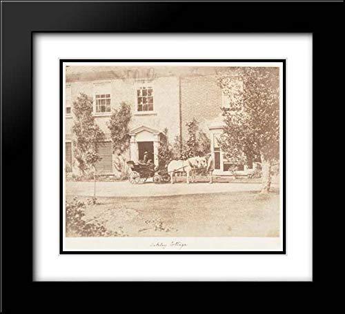 John Dillwyn Llewelyn - 22x20 Black Modern Frame and Double Matted Museum Art Print - Oakley Cottage (Oakley Twenty Black Frame)