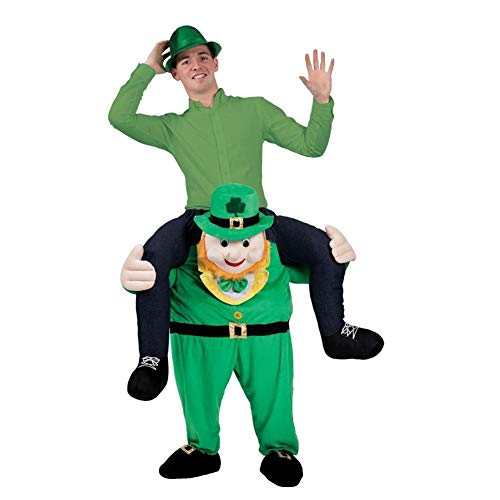 Selina Lou Leprechaun St Patricks Day Ride On Me Mascot Costumes Carry Fancy Party Funny Dress -