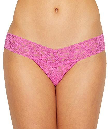 Hanky Panky Women's Signature Lace Low Rise Thong Raspberry Ice One -