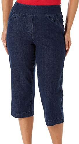 Alia Denim Jeans - Alia Petite Diamond Denim Capris 12P Medium indigo blue