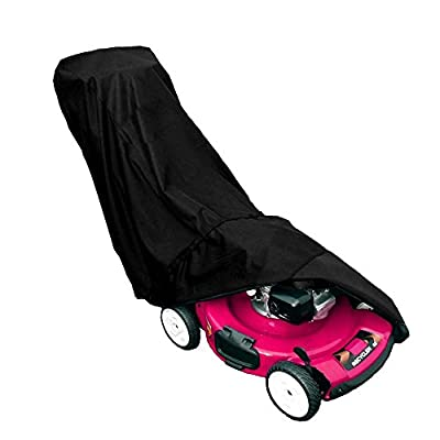 Aolvo Lawn Mower Cover, Universal Waterproof Premium Heavy Duty UV Protection Tear Resistant Lawn Mower Cover - Fits All Standard Sized Gas, Electric, Reel Push Mowers with a Storage Bag