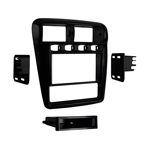 Metra 99-3311B Single/Double DIN Dash Installation Kit for Select 1997-2002 Chevrolet Camaro (Black) (Camaro Black Dash)