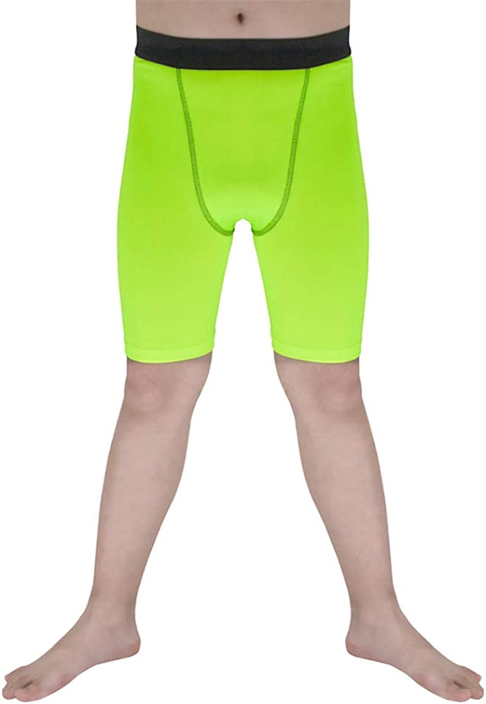 Sanke Youth Boys Soccer Running Shorts Sports Athletic Compression Short Leggings/Tights for Girls: Clothing