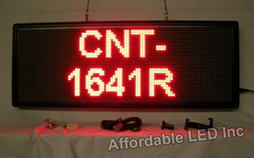 Programmable Scrolling LED Sign - Indoor Display - 16 inc...