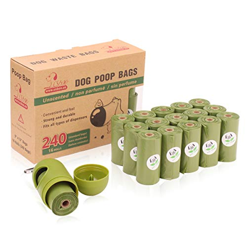 Bolux Dog Poop Bag Refill Rolls-Large Size 9 x 13 Inches-Unscented & Eco-Friendly, Leak-Proof Pet Waste Bags, Easy Detach & Open