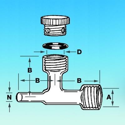7499-15 - Air Sampling Bleed Adapter (Glass Only) - Air Sampling Bleed Adapter, Ace Glass Incorporated - Each