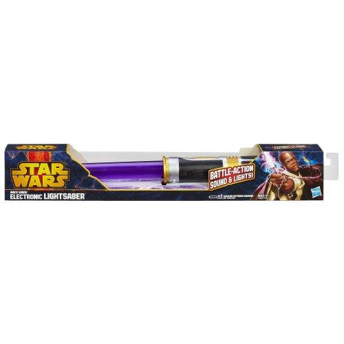 Star Wars Mace Windu Electronic Lightsaber Toy