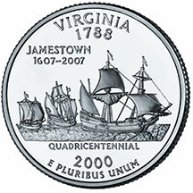 2000 D Virginia State Quarter Choice Uncirculated