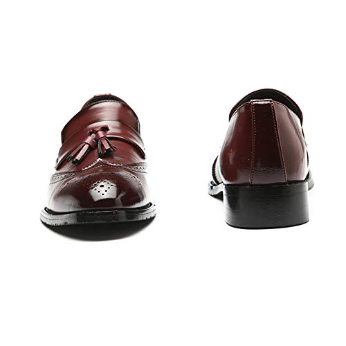 da Scarpe Fumatori Rosso Uomo Scarpe Scivolare Nappa Brogue Guida Mocassino Vintage su NXY Casuale Pelle Pantofola zvwpgqq