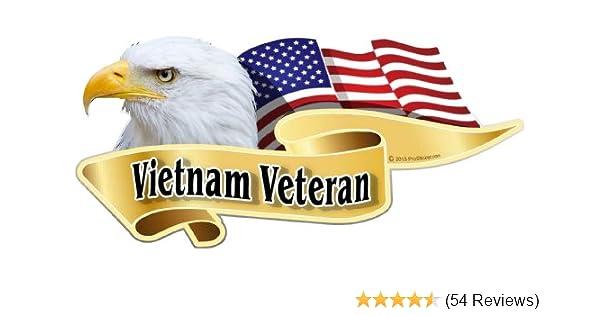 ProSticker 904M American Flag Vietnam Veteran Decal Sticker One pair