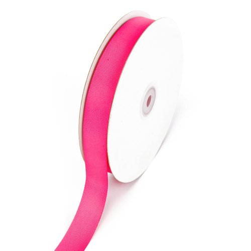 1 Pink Ribbon - Creative Ideas 7/8-Inch Solid Grosgrain Ribbon, 50-Yard, Hot Pink